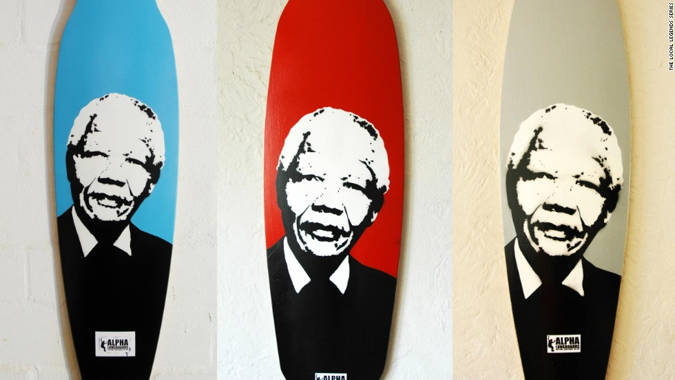 "Two years ago, Alpha Longboards launched ""Local Legends,"" a series of boards designed to honor figures such as Nelson Mandela."
