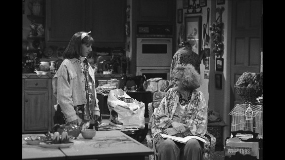"""Brennan, right, appeared on the NBC comedy """"Blossom"""" in 1991 with Mayim Bialik."""