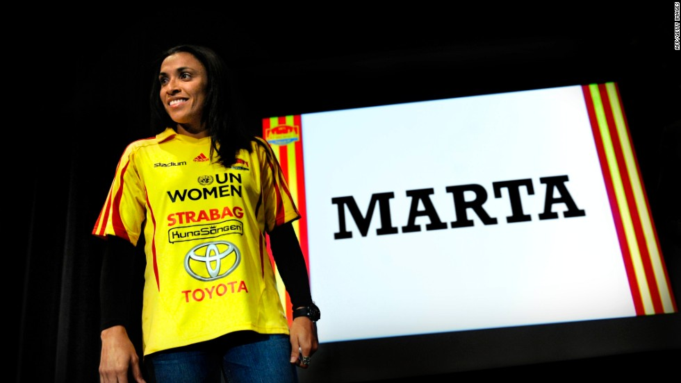Marta Vieira da Silva, or Marta as she is simply known, is considered the finest female football star on the planet. The Brazilian has won FIFA's World Player of the Year on five out of the nine times she has been nominated.