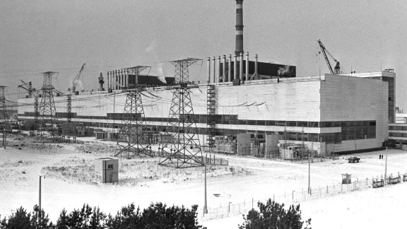 The station came on-line in 1977, two years before this photo, and contained four reactors, each capable of producing 1,000 megawatts of electrical power.