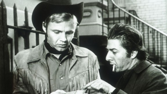 """""""Midnight Cowboy"""" (1969): This award-winning classic stars Jon Voight, left, as a young Texas dishwasher named Joe Buck who packs up and moves to New York City where he tries to survive as a male prostitute. Dustin Hoffman also stars. (Amazon)"""