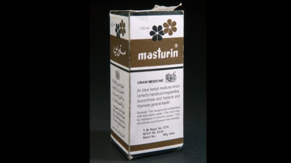 """Masturin has been advertised as an herbal remedy for """"female disorders,"""" including """"hysteria."""" It contains iron in addition to other natural supplements. The product is still available today"""