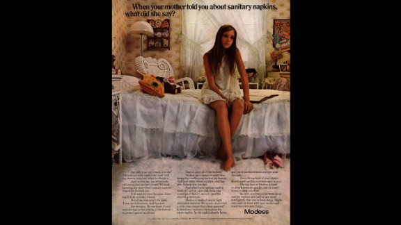 This 1970s-era magazine advertisement for Modess sanitary napkins asks women to reconsider the feminine protection options their mothers passed along. Johnson & Johnson