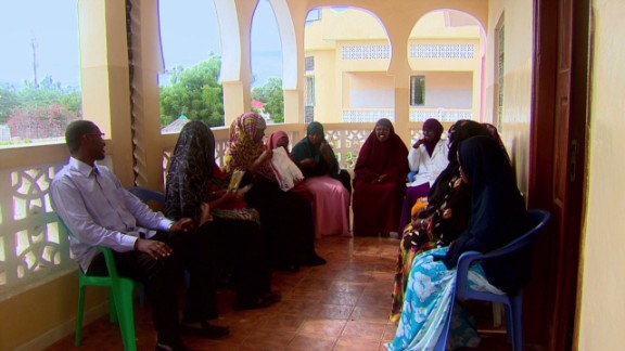 At the Sister Somalia center, women and children are sheltered in safe houses, and provided with emotional support and counseling.