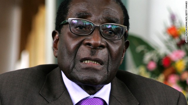 imbabwe's President Robert Mugabe announces the conclusion of the constitution making process at State House on January 17, 2013 in Harare.