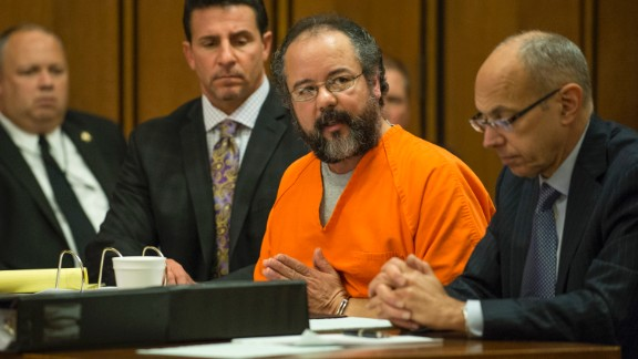 Ariel Castro pleads to Judge Michael Russo during his sentencing on August 1, 2013 in Cleveland, Ohio.