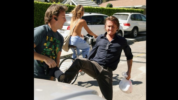 """Sean Penn lost it when a photographer was waiting near his pickup in 2010. The actor was at a Los Angeles shopping center when<a href=""""http://www.tmz.com/2010/02/19/sean-penn-crime-battery-vandalism-prosecution-jail-paparazzi/"""" target=""""_blank"""" target=""""_blank""""> he spotted the cameraman and began kicking at him</a>. <a href=""""http://www.cnn.com/2010/SHOWBIZ/05/12/sean.penn.plea/index.html?iref=allsearch"""">Penn eventually reached a plea deal over the incident</a>, but it wasn't the first time he's found himself in hot water with the paparazzi. The Oscar winner did a monthlong bid in 1987 for assaulting a paparazzo."""