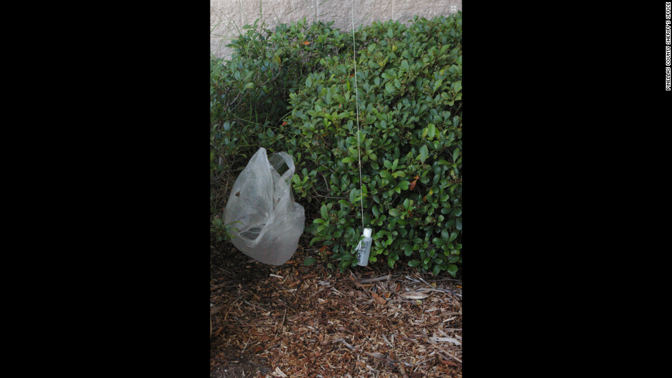 Three men -- two inmates and a civilian accomplice -- have been charged with Introduction of contraband into the Pinellas County Jail in Florida. The bag and contraband were discovered hanging outside the fourth floor.