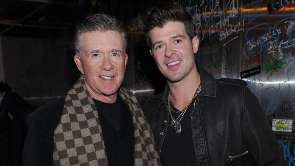 """Nearly everyone has heard 2013's song of the summer -- Robin Thicke's """"Blurred Lines"""" -- but you may not realize the R&B singer's dad, Alan Thicke, played Jason Seaver on the popular ABC sitcom """"Growing Pains,"""" which ran from 1985 to 1992. Now the son is just as well-known as his dad. Alan Thicke died December 13."""