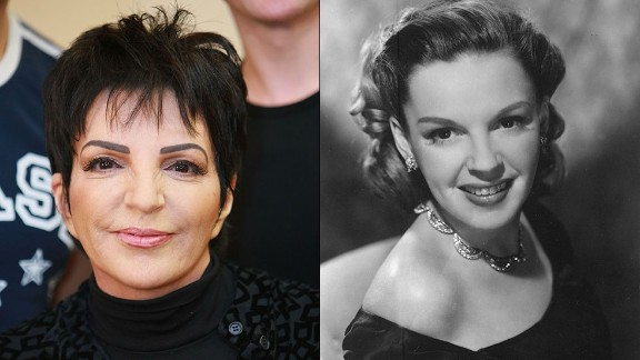 """Born into the spotlight, Liza Minnelli followed in the footsteps of her mother, the legendary singer-actress Judy Garland, winning a Tony and landing an Oscar nod before the age of 25. The daughter of """"The Wizard of Oz"""" star and famed movie musical director Vincente Minnelli has had an illustrious career of her own, with an Oscar for """"Cabaret"""" and TV appearances on """"Arrested Development."""""""