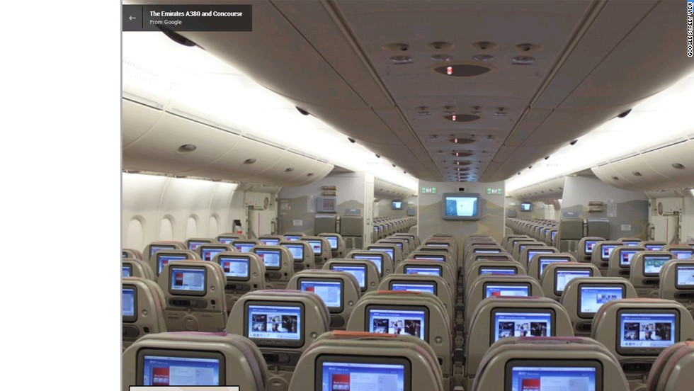 Google Street View Goes Inside Airbus A380 Cnn Travel