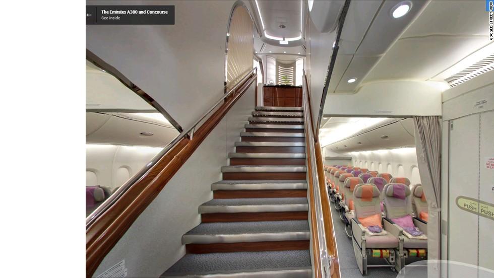 Google Street View Goes Inside Airbus A380 Cnn Travel