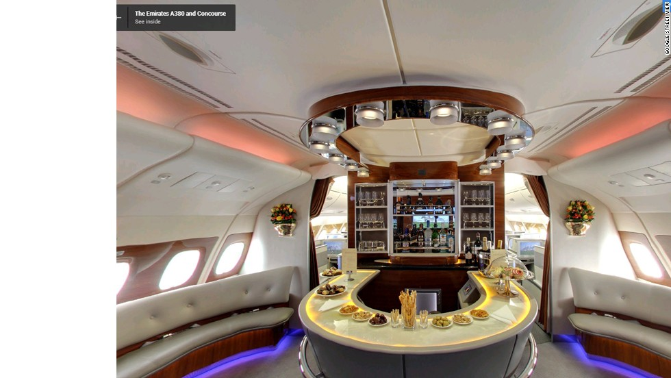 Google Street View goes inside Airbus A380 | CNN Travel