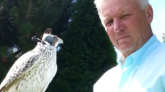 """Former spy Chris Boyce, the subject of the film """"The Falcon and the Snowman,"""" is an expert on falconry."""