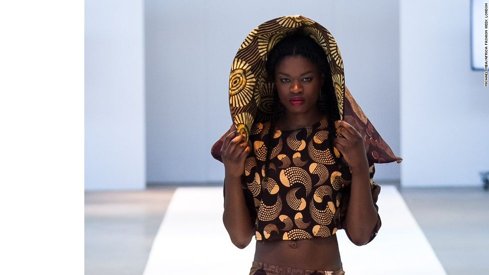 "Ronke Ademiluyi, founder of Africa Fashion Week London, says the event's main goal is to bring attention to designers. ""To showcase their creativity to the world so they get more global recognition for what they do and more appreciations for their brands as well."" <em>Outfit: Lady Curvez.</em><br />"