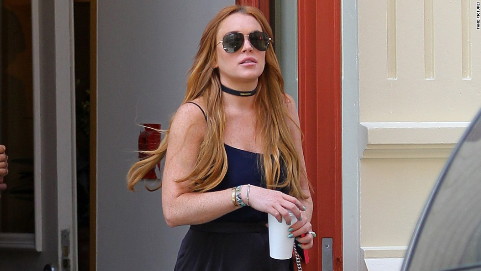 Lindsay Lohan is spotted in New York City on August 5.