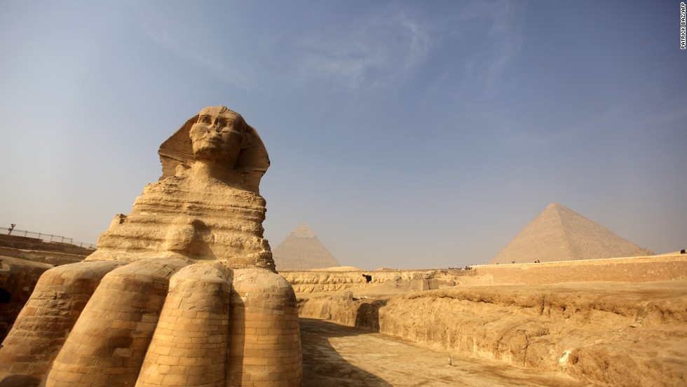 The site includes the Great Sphinx of Giza, built during the reign of the Pharaoh Khafra.