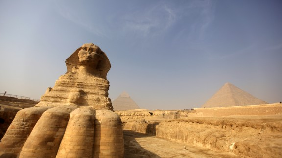 The site includes the Great Sphinx of Giza, built during the reign of Pharaoh Khafra.