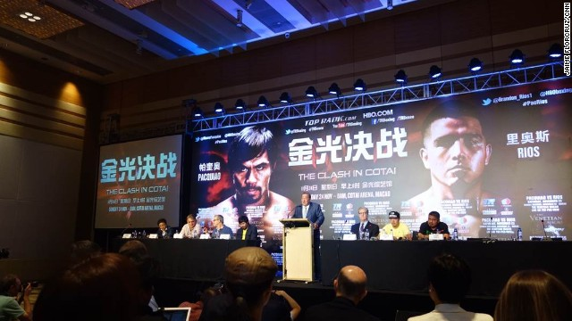 Boxing promoter Bob Arum promotes  the November 24  fight between Manny Pacquiao and Brandon Rios.