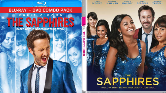 """Spot the difference? The U.S. DVD cover for """"The Sapphires,"""" left, has sparked criticism. The Australian version is on the right."""
