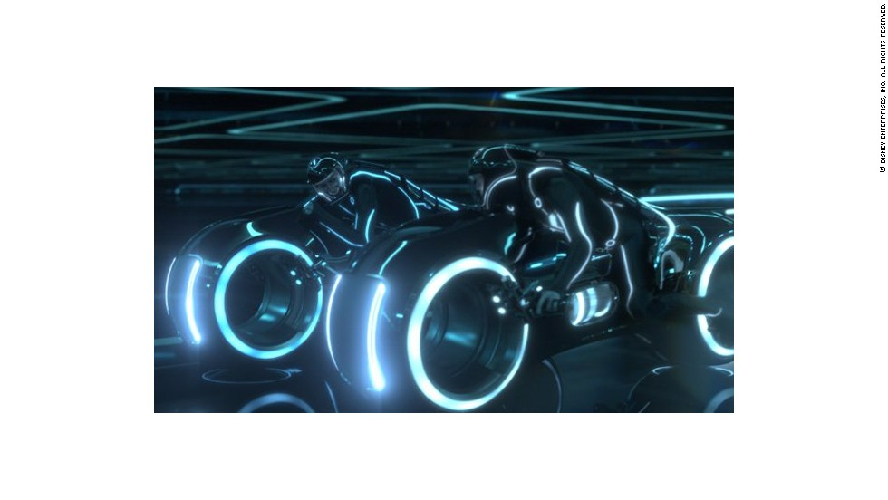 "A racing bike from the movie Tron legacy. ""If you think of movies like Tron or Star Wars and the noise those cars make, Formula E will sound a lot like that,"" said Formula E CEO Alejandro Agag."