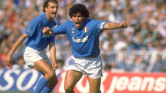 Maradona is also venerated in Naples after leading Napoli to the Italian Serie A title in 1987 and 1990.