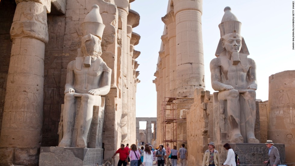 The Luxor Temple complex includes the ancient mortuary sites of Tutankhamun and Ramesses II.