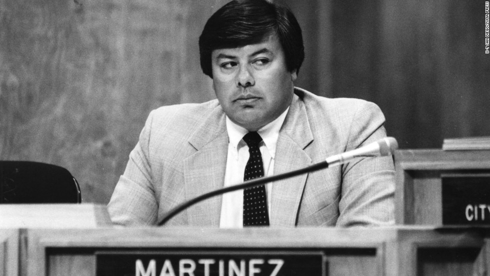 Councilman Uvaldo Martinez resigned in 1986 after allegations that he used his city-issued credit card to treat himself and his friends to meals and drinks, claiming it was city business. He reimbursed the city just over $600 as part of his plea bargain, in addition to going on probation and performing community service.