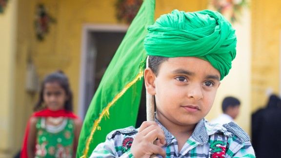 """This photo of a young Muslim boy was taken by Dinesh Maneer, from Bangalore, India. """"Though I am from a different religion I was invited by a friend to the mosque for photographing the celebrations,"""" said the 33-year-old engineer."""