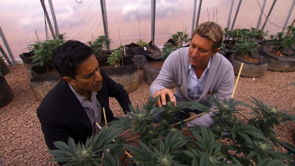 The brothers started the Realm of Caring Foundation, a nonprofit organization that provides cannabis to adults and children suffering from a host of diseases. Here Josh Stanley, right, gives CNN