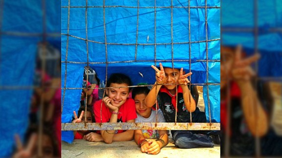 This photo of Syrian refugee children was taken last year at the Hatay