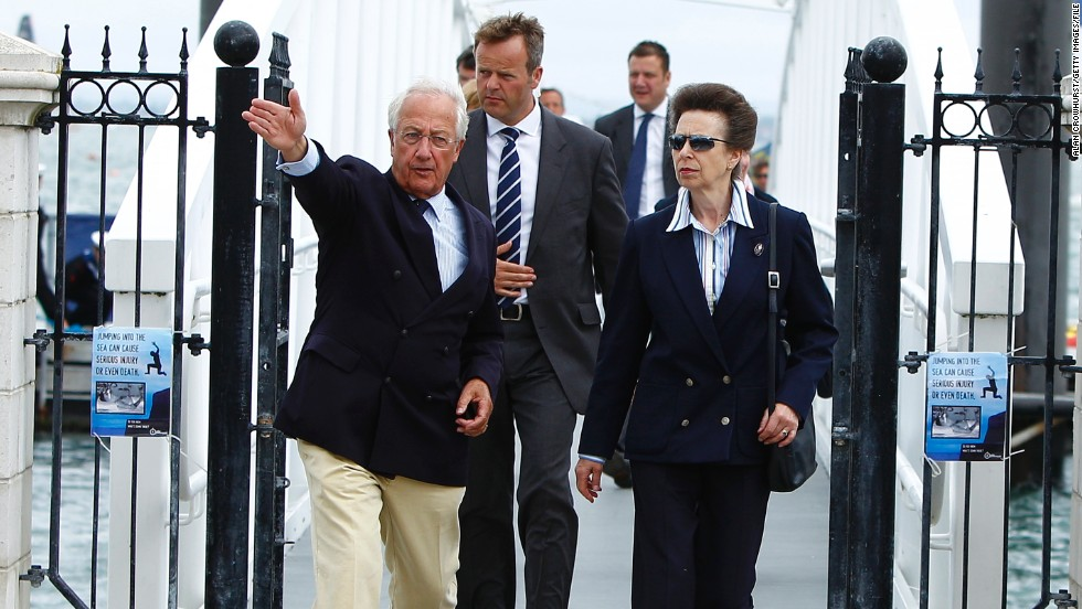 The prestigious club has announced it will now admit female members for the first time in its 198-year history. Perhaps best known as the home of annual British regatta -- Cowes Week -- the club was launched in 1815. Here Princess Anne arrives on day three of this year's regatta.