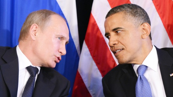 US President Barack Obama (R) listens to Russian President Vladimir Putin during a bilateral meeting in Los Cabos on June 18, 2012 on the sidelines of the G20 summit.