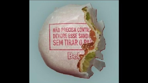 """""""Eat this sandwich without chucking the paper"""" says the wrapper: a direct approach to waste reduction by Brazilian fast-food chain Bob's Burgers, who have started serving their burgers in edible paper."""