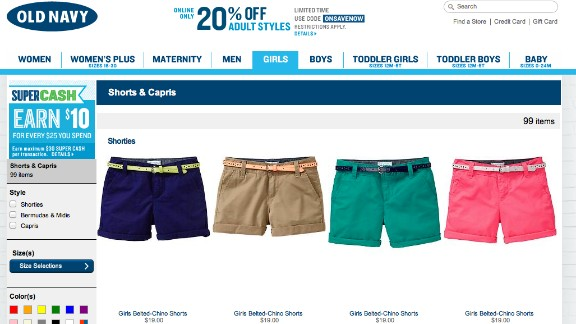"A mom of three who goes by the name ""Miss Lori"" online has a message for Old Navy: ""Stop selling 'shorty mcshorty shorts'"" to girls. Her message to parents: ""I would like to see more parents feel empowered to say cut it out."""