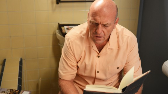 "In the last episode before ""Breaking Bad's"" final run, Hank discovers some incriminating bathroom reading in Walt's house. What would he do with this startling information? His actions helped drive the narrative for the show's final eight episodes."