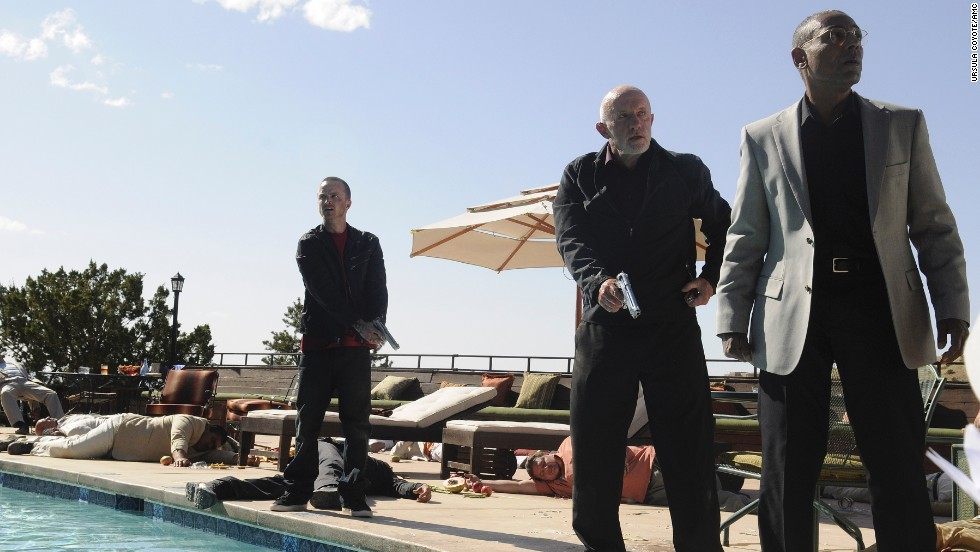 In this dramatic Season 4 showdown, Gus takes Jesse and loyal henchman Mike Ehrmantraut (Jonathan Banks) to Mexico to meet with the vicious leader of a drug cartel. One poisoned bottle of rare tequila later, the three are fleeing for their lives.