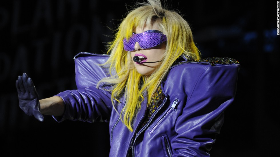 Lady Gaga at Lollapalooza 2010 in Chicago.