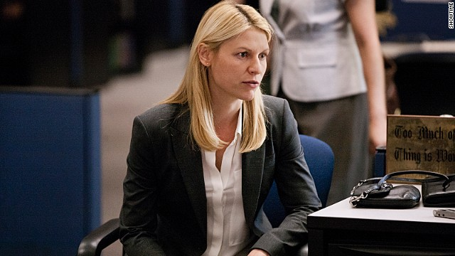 "Claire Danes won a second consecutive Emmy for best actress in a drama series for her role as Carrie Mathison on ""Homeland."""