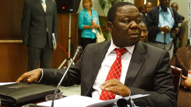 Zimbabwean Prime Minister Morgan Tsvangirai is pictured at an emergency summit aimed at hauling Zimbabwe's fragile power-sharing deal out of a three-week impasse that has paralyzed the unity government in Maputo, on November 5, 2009.