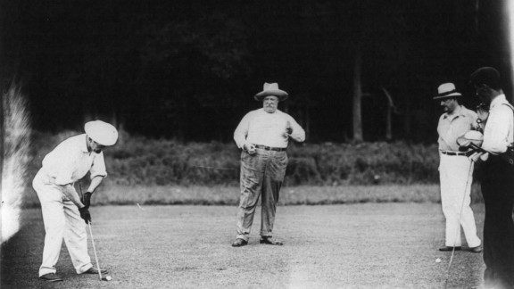 William Howard Taft, the 27th president, was known to spend time on the golf links.