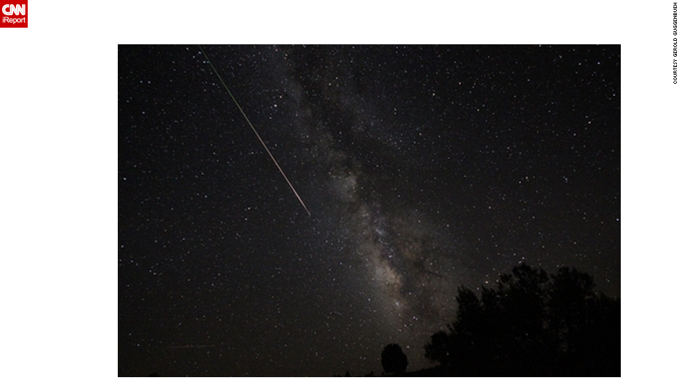 "<a href=""http://ireport.cnn.com/docs/DOC-481557"">Gerold Guggenbuehl </a>caught the Perseid meteor shower from the Kodachrome Basin in Cannonville, Utah."