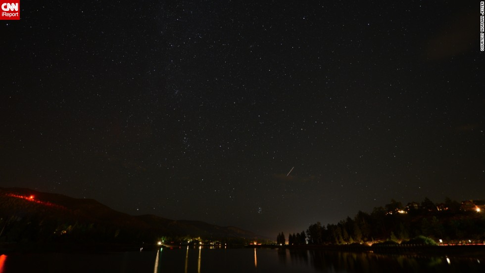 "<a href=""http://ireport.cnn.com/docs/DOC-828081"">Norman Jester</a> captured photos of the Perseid meteor shower from Big Bear Lake, California, back in August 2012. ""Seeing them with your own eyes and then having the ability to show people what you have seen is just a better way to live,"" he said."