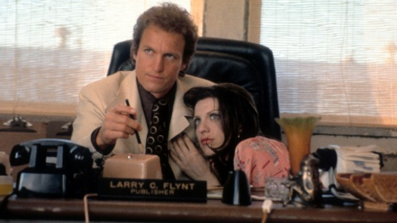 """Woody Harrelson and Courtney Love star in the 1996 film """"The People vs. Larry Flynt"""" about the founder of Hustler magazine."""