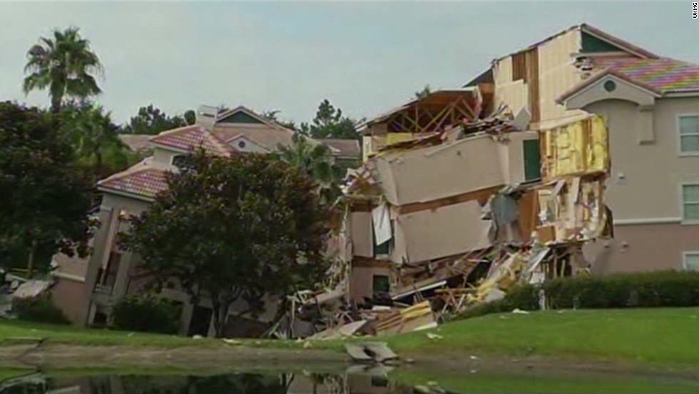 Florida Sinkhole Swallows Parts Of Resort Near Disney World   CNN