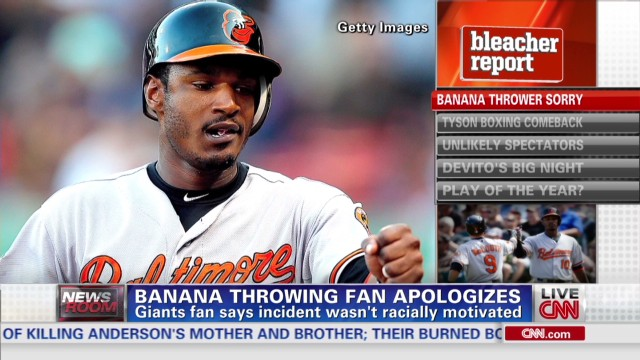 Banana thrower apologizes, Jones reacts