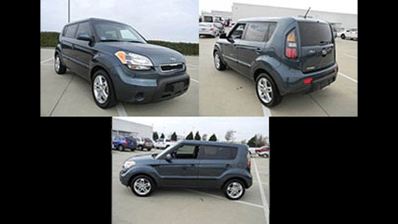 Keyes rented this blue 2011 Kia Soul, Texas license plate CN8 M857, from February 2-7, 2012. He drove the vehicle 2,847 miles. The FBI is looking for additional information the public may have on Keyes' travel.