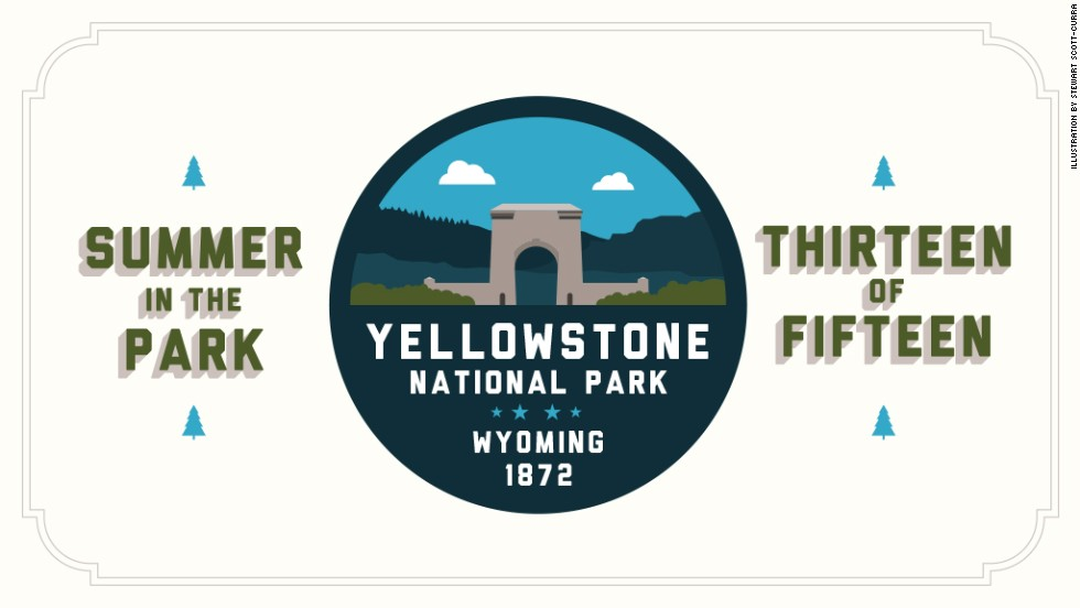 "<a href=""http://www.nps.gov/yell/index.htm"" target=""_blank"">Yellowstone National Park </a>was the nation's first national park, established by the U.S. Congress and signed into law by President Ulysses S. Grant on March 1, 1872. It's predominantly in Wyoming but also touches Idaho and Montana. Check in next week for <a href=""http://www.nps.gov/arch/index.htm"" target=""_blank"">Arches National Park</a>."