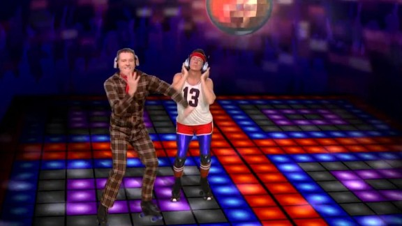 """Bryan Cranston and Stephen Colbert were part of star-studded dance party to Daft Punk's """"Get Lucky"""" on """"The Colbert Report."""""""