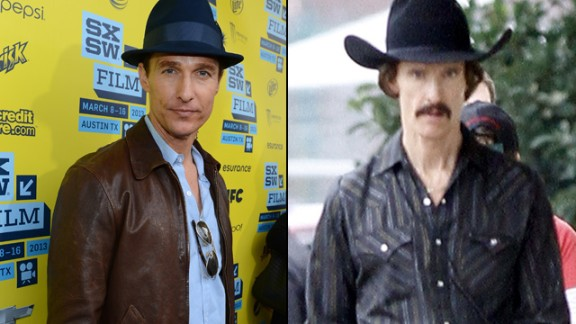 "Matthew McConaughey lost at least 40 pounds to portray a man with AIDS in the December release ""Dallas Buyers Club."""